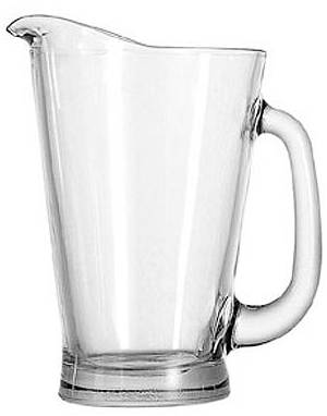 55 oz Beer Wagon Glass Pitcher
