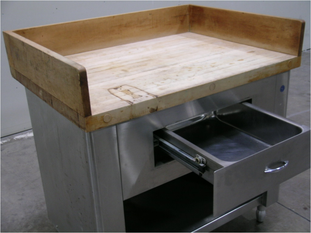 Hardwood Top Worktable
