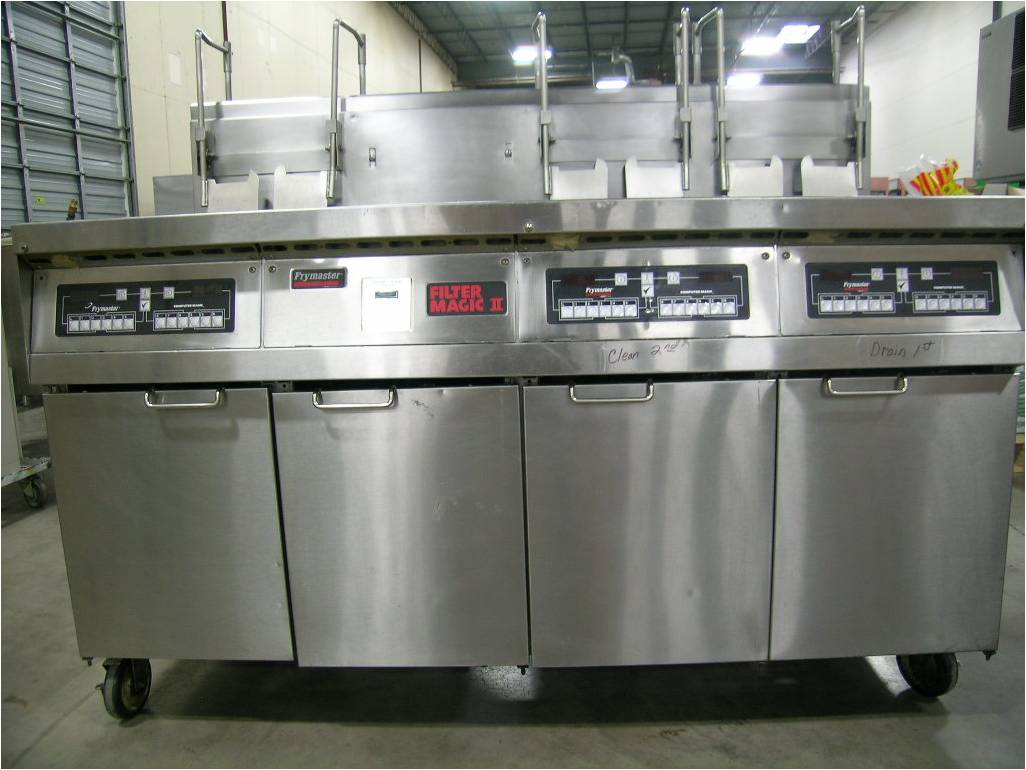 Frymaster FMH350BLSC fryer with dump stations & filter system