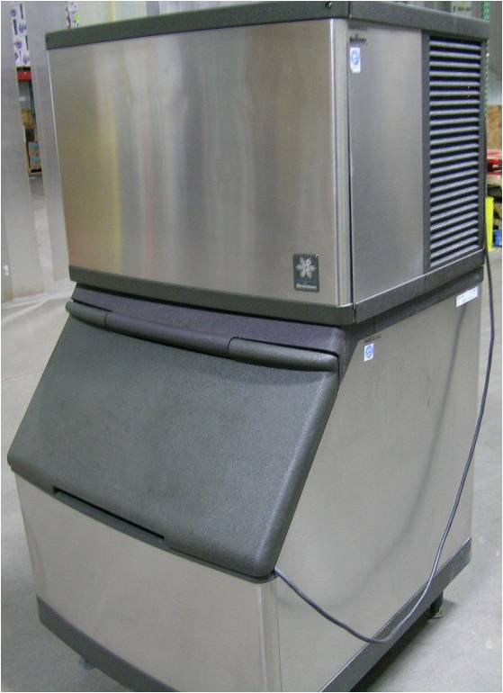 Manitowac QY0454A Ice Cube Machine & Storage Bin S400