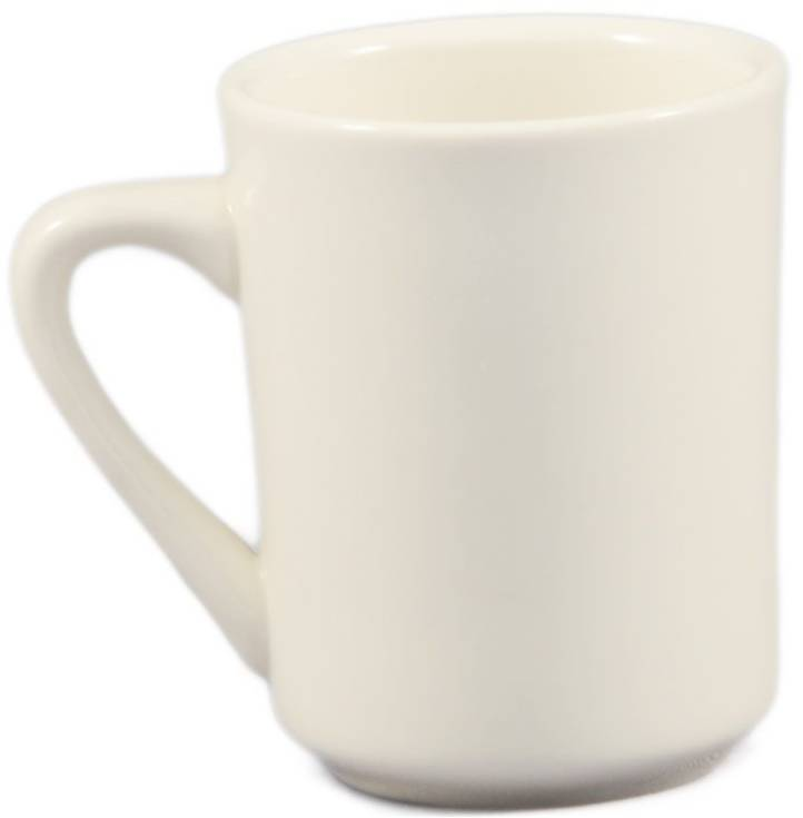 Mug, CAC TM-8-W Tall Round Tierra Mug, 8 oz, Box of 36