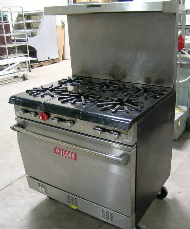 Vulcan-Hart 36L77R Range, 6 Burners with Oven